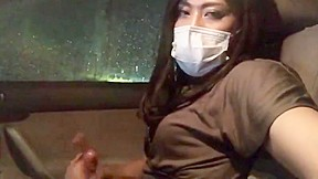 Christine young masturbates in car