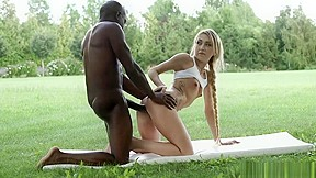 Black girl fucked by white man