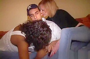 Three teen on one stud porn