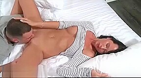 Azhotporn beautiful lady handjob and blowjob