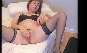 Mature orgasm by pool