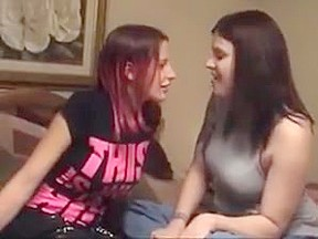 long tounged lesbos deep passionate kissing