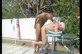 Gay men sex in green chair