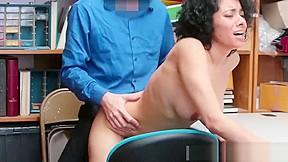 Brunette big tits taks big cocks