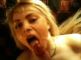 dilettante cock-sucker blond facial