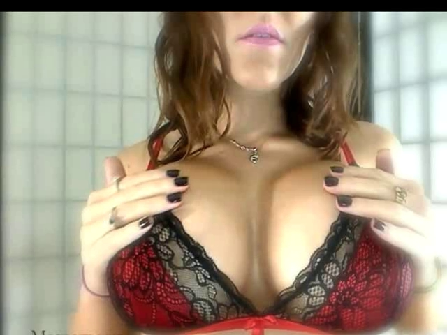 busty slut teases with her tits in pov sex video