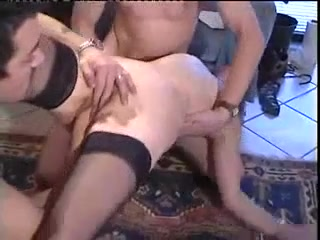 Horny french mature analized and fisted in a 3some