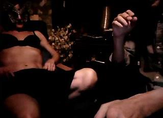 skinny webcam couple performs a sexy blowjob show