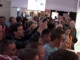 MILF pornstar Milly shows off during an erotica fair
