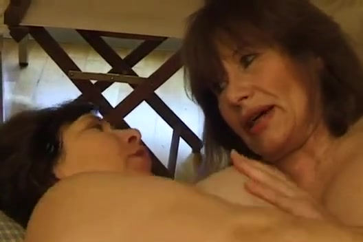 Two mature French dykes getting naughty with each other