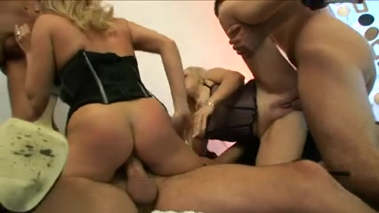 British bitch Alicia Rhodes and ally receive several dongs