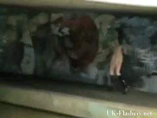 Slender goth masturbating in public for tattooed english Thor
