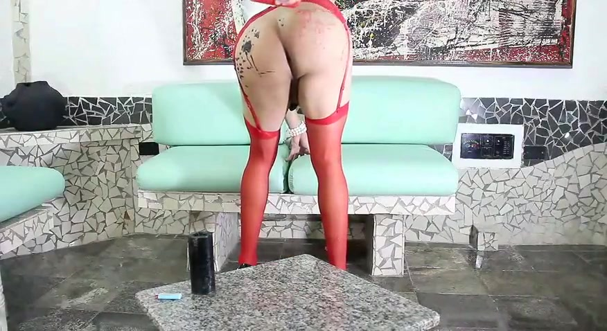 Alana crossdresser nasty wax candle play (long version)