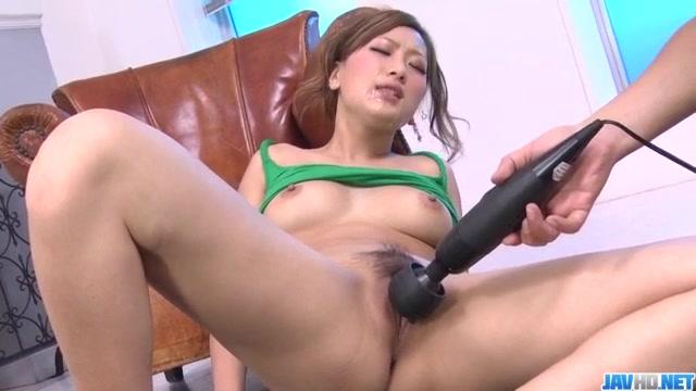 Toy porn session along big tits Japanese Aika