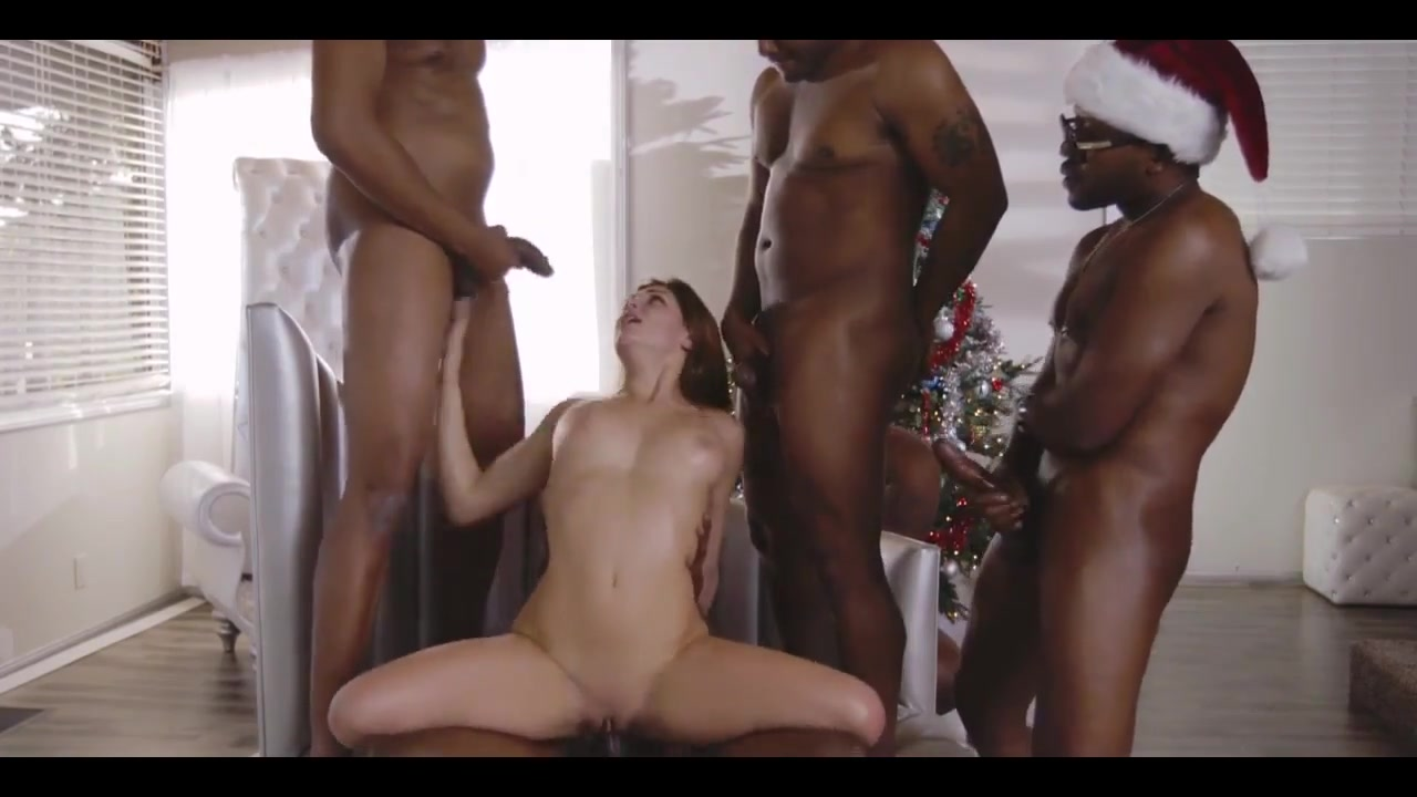 White college girl takes first BBC gangbang