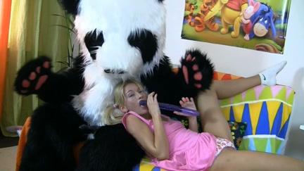 Panda bear in sex toy porn movie