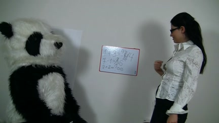 Hawt teacher for slutty Panda bear