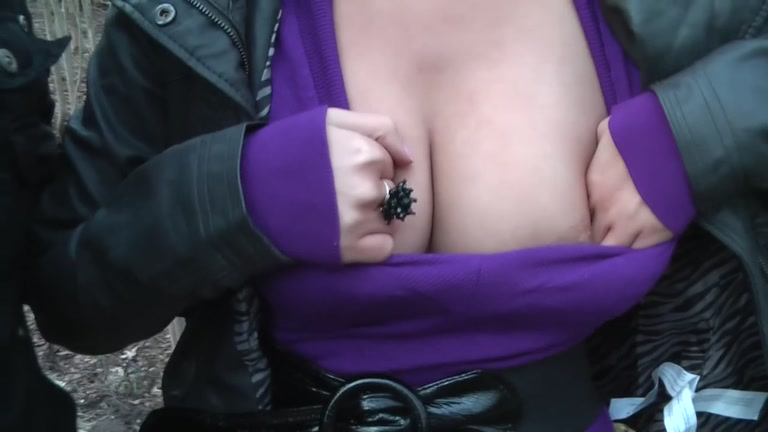 outdoor pickup sex with a busty babe