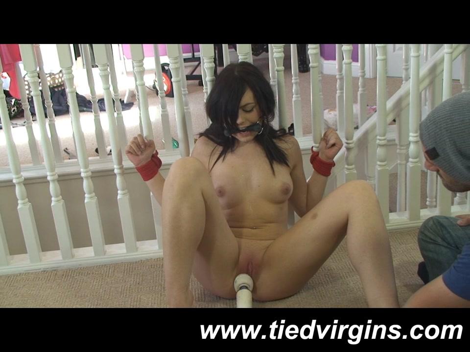 Lovely teen slut in hot BDSM masturbation game