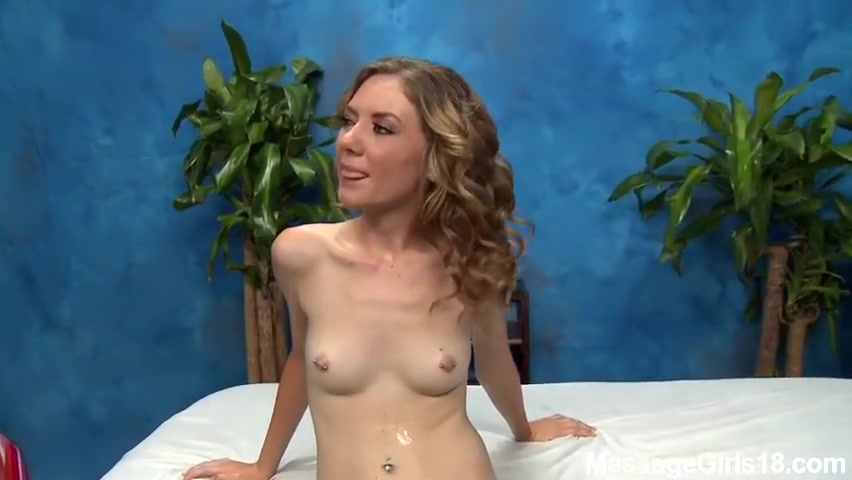 18 years old massage girl working with her pussy
