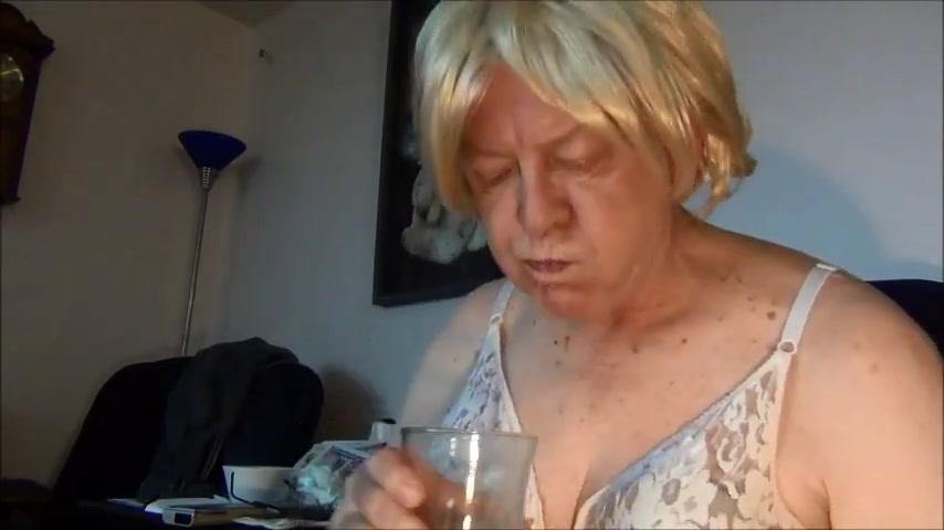 Naughty gigi drinks a slime enema