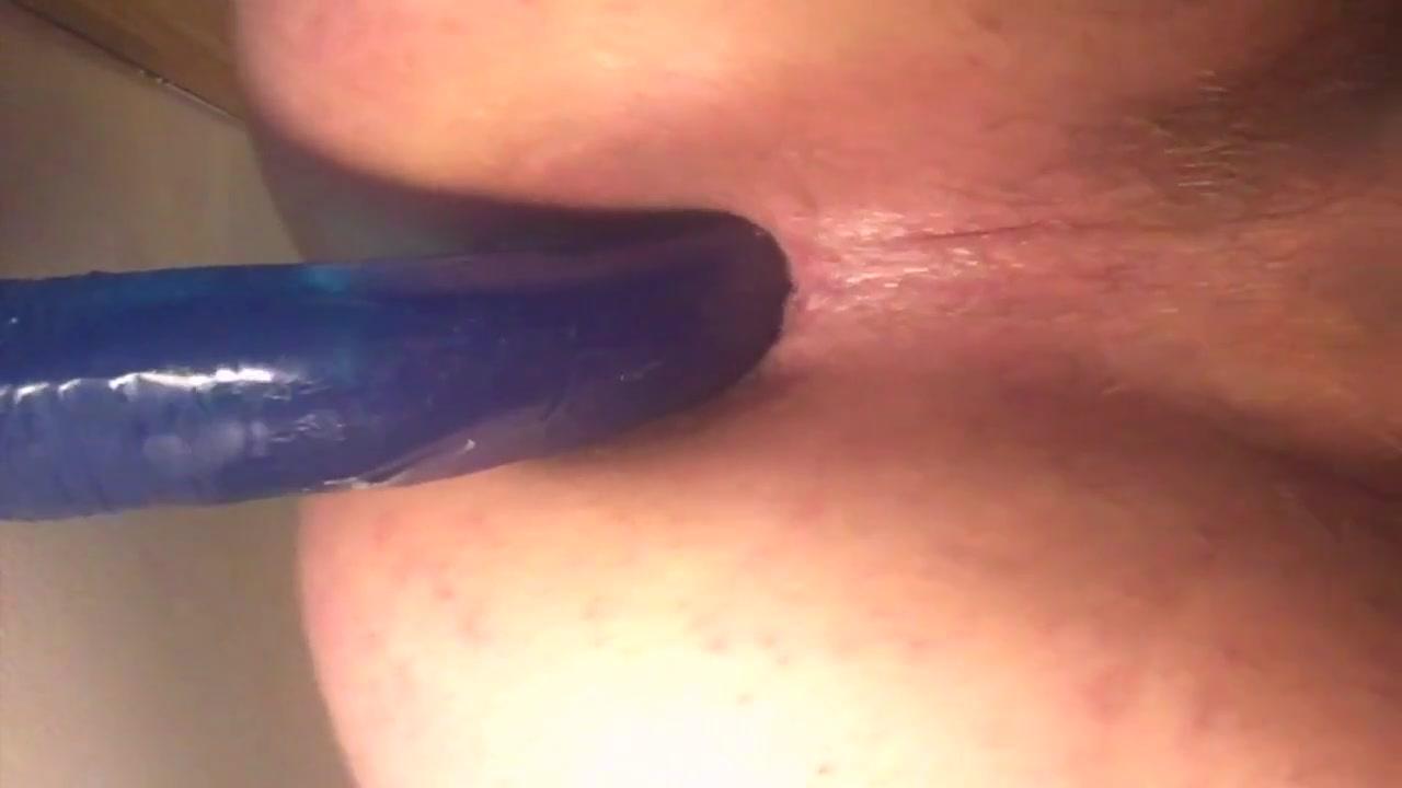 11 inch blue wall dildo
