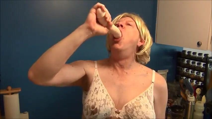 Naughty gigi drinks her enema water