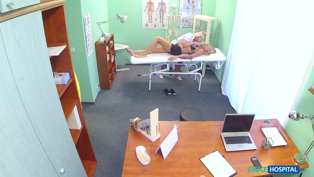 Kayla in Claustrophobic sexy russian blonde seems to love gorgeous nurses tight confined spaces - FakeHospital