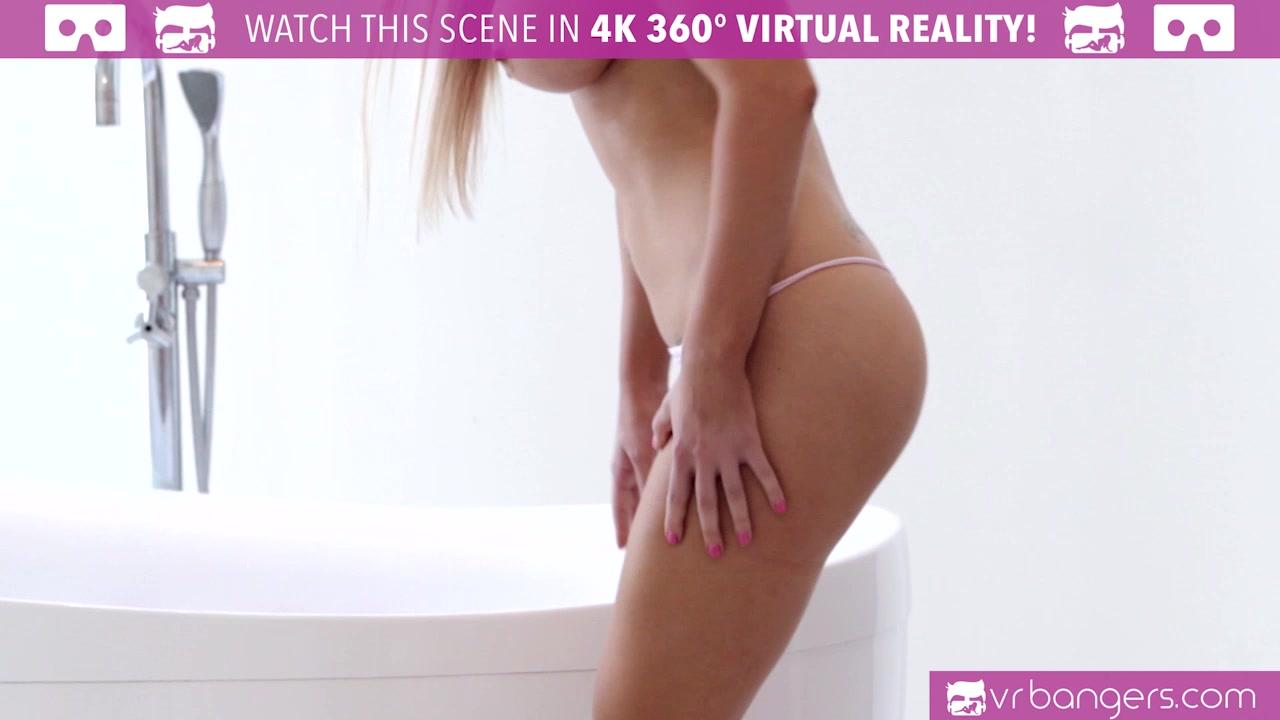 VR Bangers - HOT BLONDE Alix Lynx caught by boyfriend masturbating