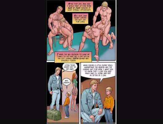 Gay erotic comic book about daddykink