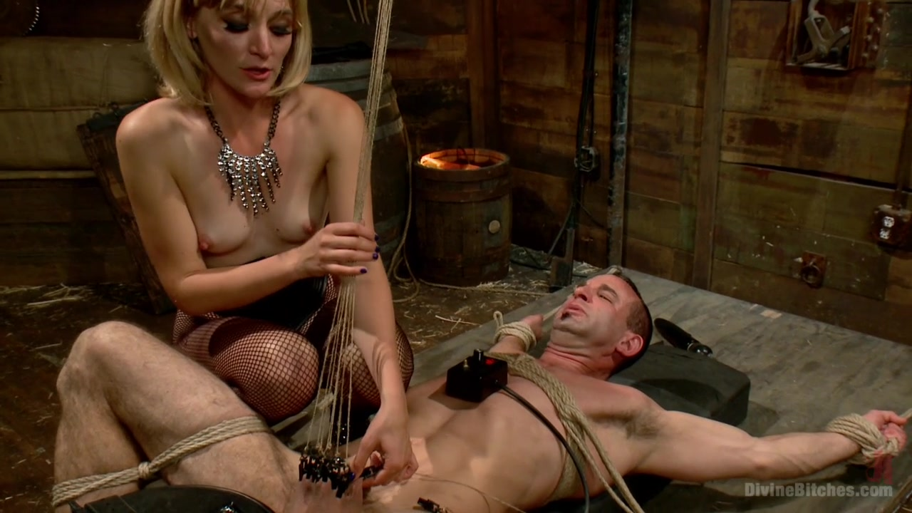 Bitch Boy in a Barn Lifestyle Dominatrix Abuses and Fucks Slave Boy