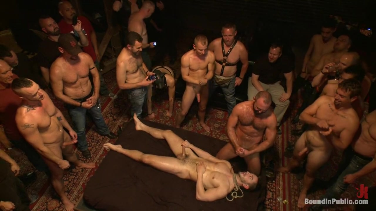 Bryan Cole is fucked in front of 100 horny men