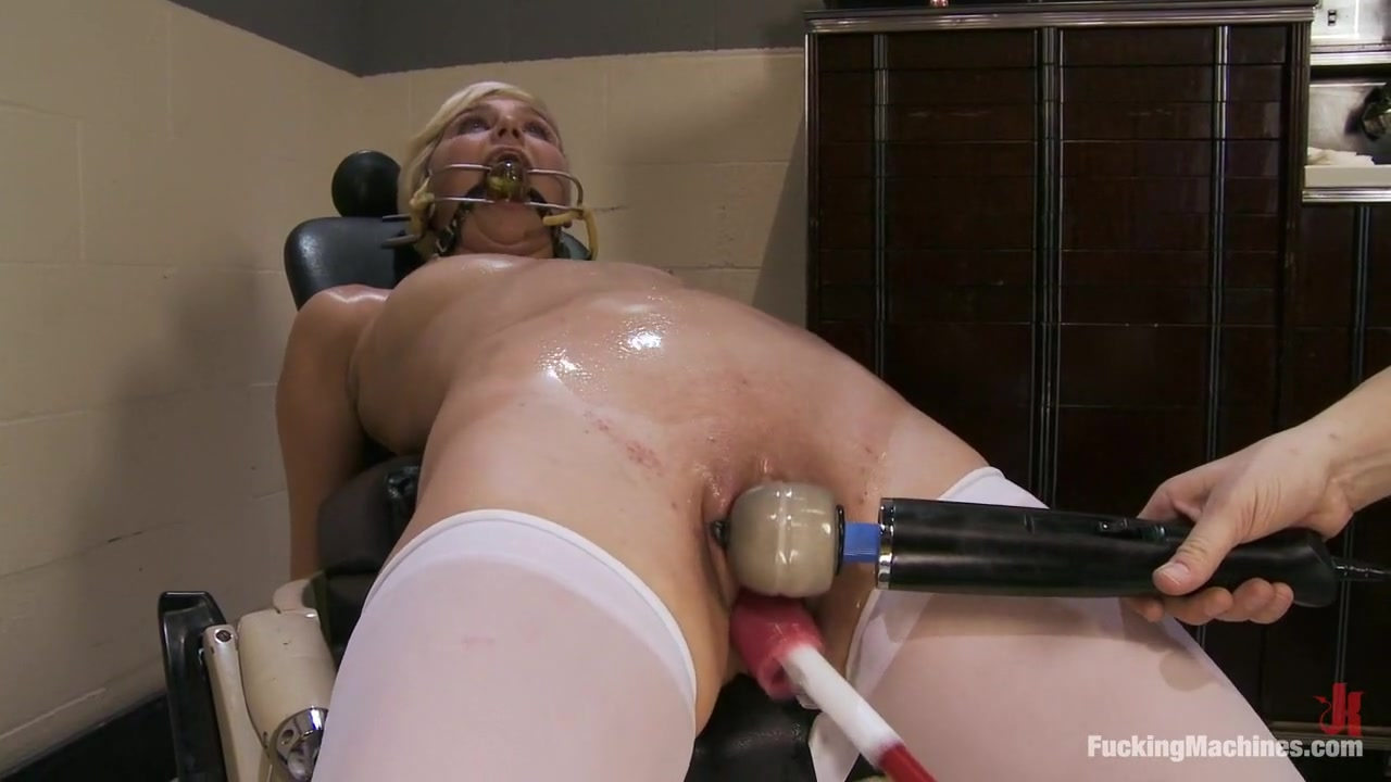 Machine DP + Bondage= So Many Orgasms for Such a Sweet Little Blonde