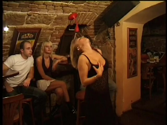 Slut Blows Guy In Front Of Horny Couple