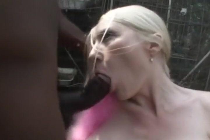 Blond Drinking Down Black Semen