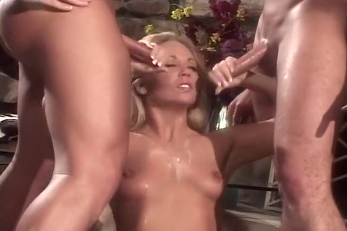 Group oral sex session 2 guys. 1 girl