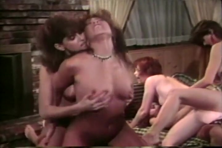 Poofy Haired Natural Tit Lesbians Have Strapon Sex Orgy