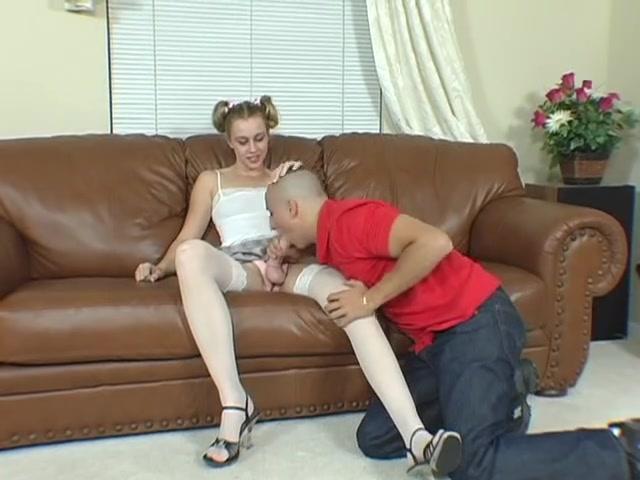 teenage couple enjoys playing with strapon