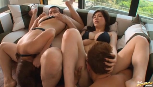 Wild Japanese group sex action