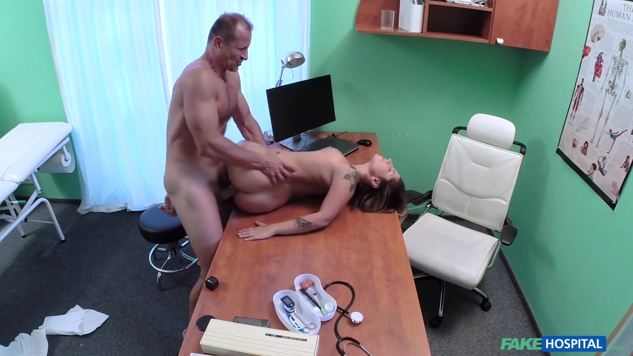 Amy in Patient Orgasms Pussy Juice on Desk - FakeHospital
