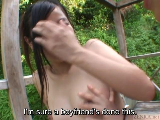 Subtitled Japanese lesbians outdoor hot springs exploration