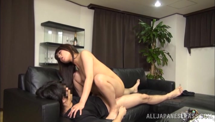 Naughty Japanese AV Model is a hot milf in position 69