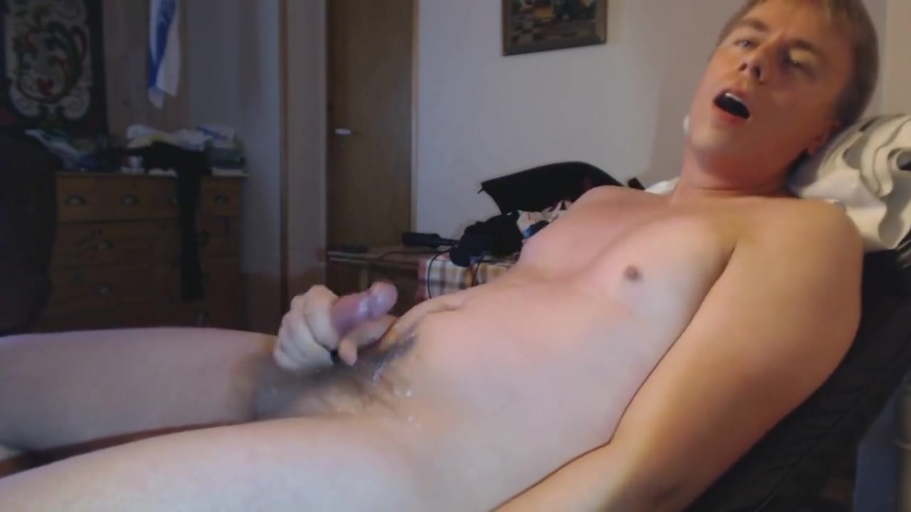 Danish Boy - Horny guy masturbates  moans and cums in an