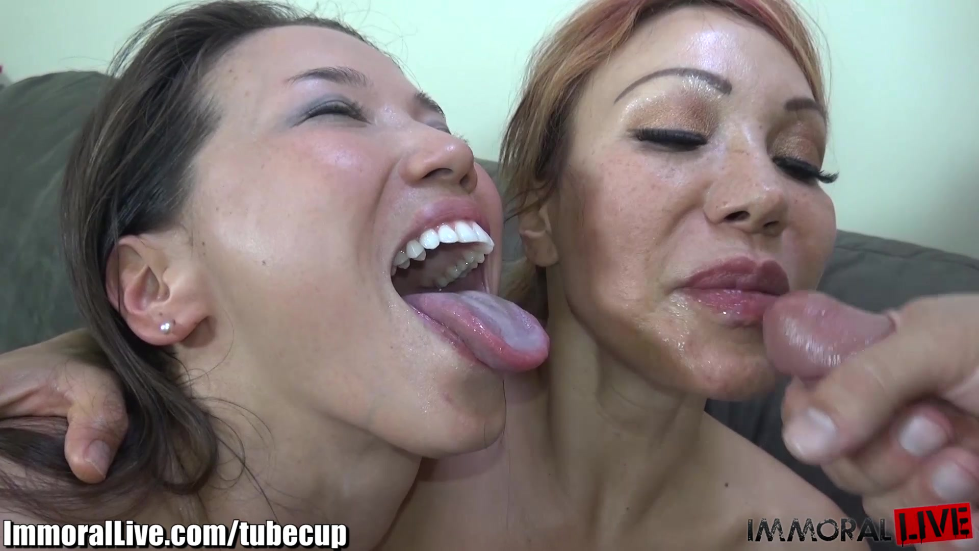 ImmoralLive Curvy Latina & her Petite Asian GF in the best 4some!