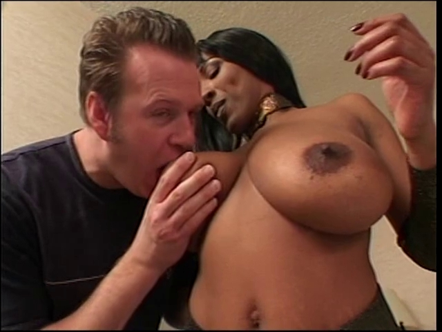Ebony Sucks Big White Cock
