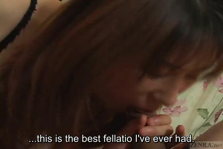 Subtitled uncensored Japanese handjob and blowjob threesome