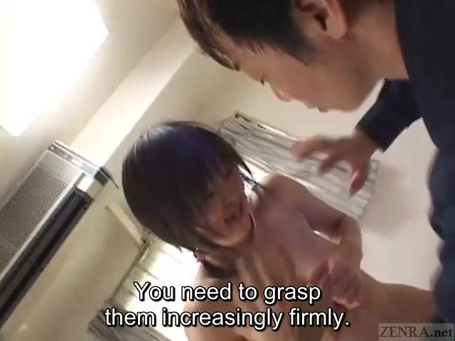 Subtitled ENF CMNF shy Japanese teen idol photoshoot