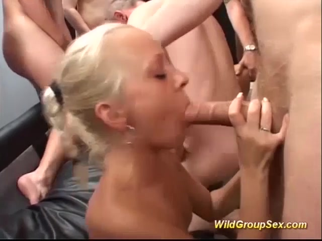 bukkake orgy with german chicks