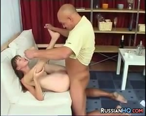 Russian Slut Fucks Step Dad