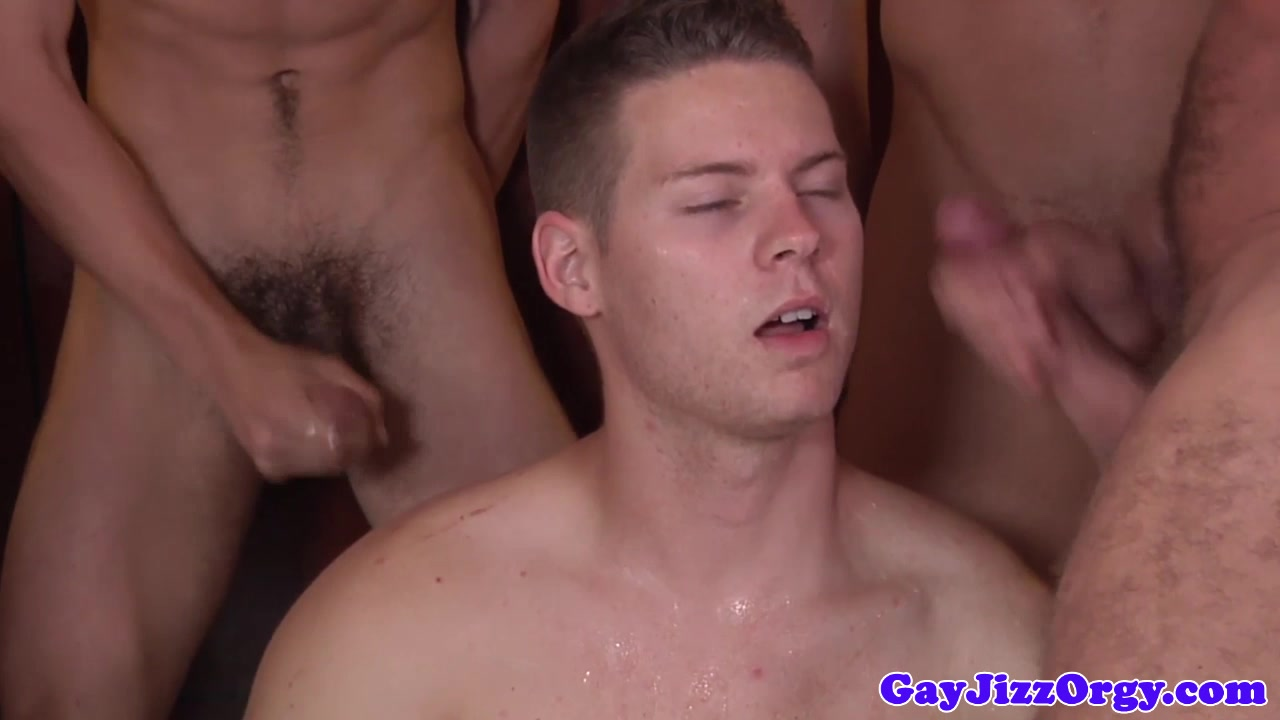 Orgy loving hunk saturated in cum